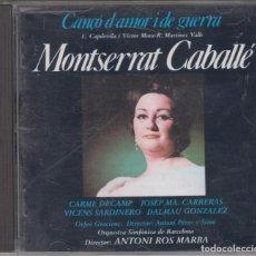 CDs de Música: CANÇÓ D'AMOR I DE GUERRA CD 1987 MONTSERRAT CABALLÉ ANTONI ROS MARBÁ ALHAMBRA ZARZUELA. Lote 151898650