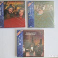 CDs de Música: BEE GEES - LOTE 3 (MAIN COURSE+ SPIRITS HAVING FLOWN+ LIVING EYES) 2004 JAPAN MINI LP PAPERSLEEVE CD. Lote 118435591