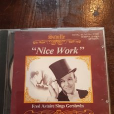 CDs de Música: NICE WORK. FRED ASTAIRE SINGS GERSHWIN. CD. CONIFER. 1989. Lote 118518848
