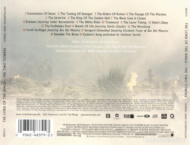 CDs de Música: THE LORD OF THE RINGS: THE TWO TOWERS / Howard Shore CD BSO - Foto 2 - 281835203
