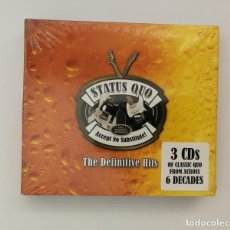 CDs de Música: STATUS QUO - ACCEPT NO SUBSTITUTE THE DEFINITIVE HITS - (NEW SEALED/NUEVO 3 CD). Lote 118925071