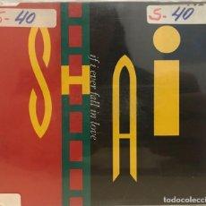 CDs de Música: SHAI / IF I EVER FALL IN LOVE (4 VERSIONES) (CD SINGLE 1992) RF-625. Lote 118935579
