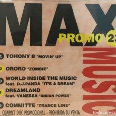 CDs de Musique: MAX MUSIC PROMO 23 - CD SINGLE MAX MUSIC DE 1995 ,RF - 649 - CANCIONES EN PORTADA. Lote 118938911