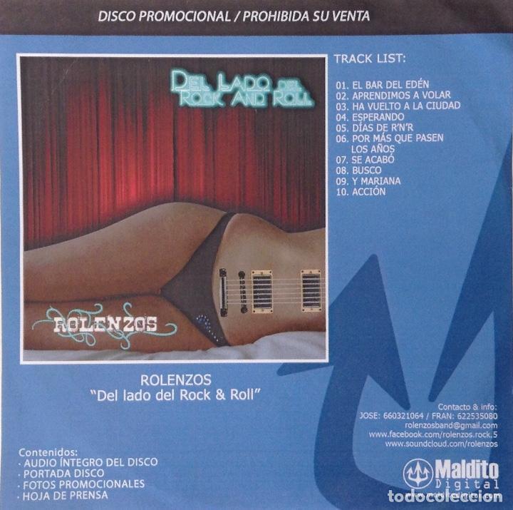 ROLENZOS CD PROMO CONTENIDO EXTRA DEL LADO DEL ROCK & ROLL (Música - CD's Rock)