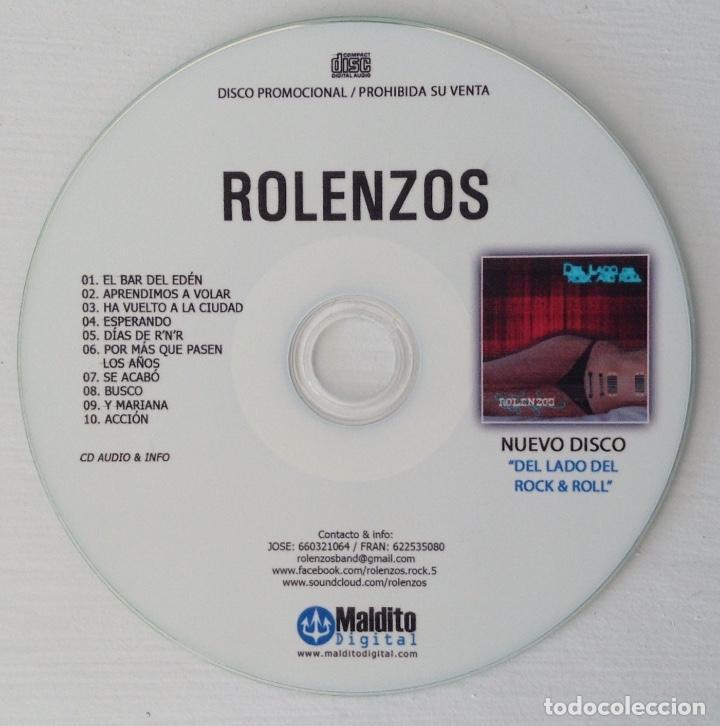 CDs de Música: ROLENZOS CD promo contenido extra DEL LADO DEL ROCK & ROLL - Foto 3 - 118949091