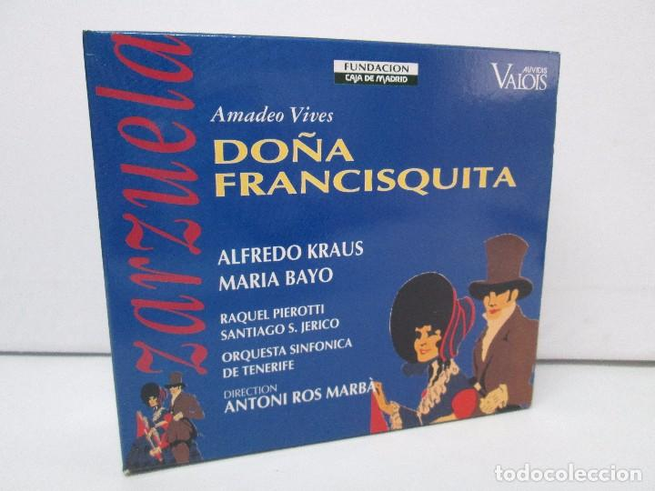 AMADEO VIVES. DOÑA FRANCISQUITA. ZARZUELA. A. KRAUS. M. BAYO. R. PIEROTTI. S. JERICO. 2 CD Y LIBRO (Música - CD's Clásica, Ópera, Zarzuela y Marchas)