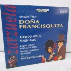 CDs de Música: AMADEO VIVES. DOÑA FRANCISQUITA. ZARZUELA. A. KRAUS. M. BAYO. R. PIEROTTI. S. JERICO. 2 CD Y LIBRO. Lote 118968391