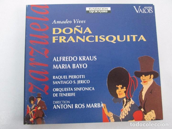 CDs de Música: AMADEO VIVES. DOÑA FRANCISQUITA. ZARZUELA. A. KRAUS. M. BAYO. R. PIEROTTI. S. JERICO. 2 CD Y LIBRO - Foto 2 - 118968391