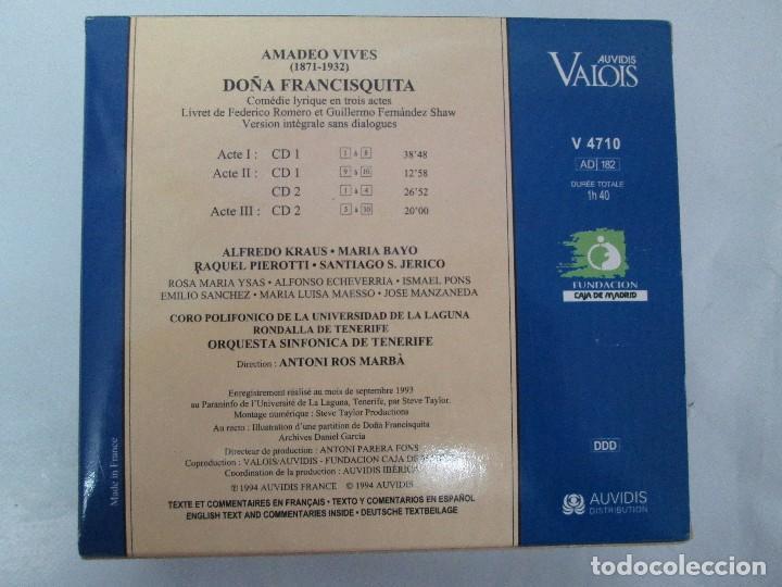CDs de Música: AMADEO VIVES. DOÑA FRANCISQUITA. ZARZUELA. A. KRAUS. M. BAYO. R. PIEROTTI. S. JERICO. 2 CD Y LIBRO - Foto 13 - 118968391