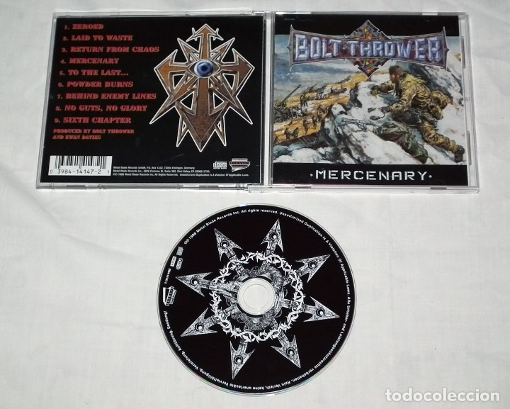 CDs de Música: CD BOLT THROWER - MERCENARY - Foto 2 - 46505242