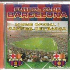 CDs de Música: CD FUTBOL CLUB BARCELONA ( HIMNE OFICIAL I CANTICS DEL BARÇA) INCLOU QUEEN WE ARE THE CHAMPIONS. Lote 119238099