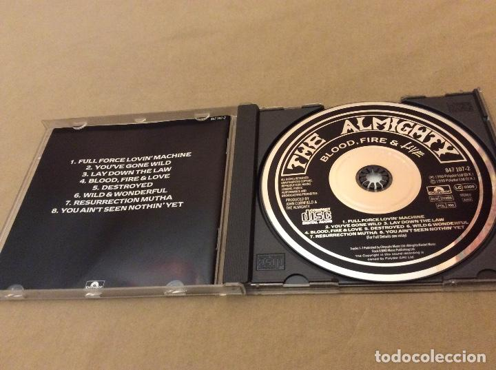 CDs de Música: The Almighty - Blood Fire & Love Live. - Foto 3 - 119241383
