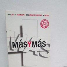 CDs de Música: MAS Y MAS. 2 CD´S Y 2 DVD´S. JARABE DE PALO, MIGUEL BOSE, ALEJANDRO SANZ, HOMBRES G....2008. . Lote 119300463