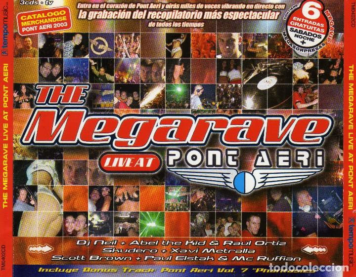THE MEGARAVE LIVE AT PONT AERI (3XCD, COMP, MIXED) (2002) (Música - CD's Disco y Dance)