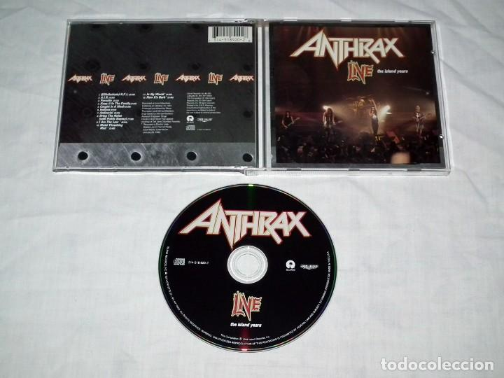 CDs de Música: CD ANTHRAX - LIVE THE ISLAND YEARS - Foto 2 - 119563227