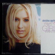 CDs de Música: CHRISTINA AGUILERA: WHAT A GIRL WANTS, CD SINGLE PROMO RCA 74321722112. EUROPE, 1999. Lote 119861699