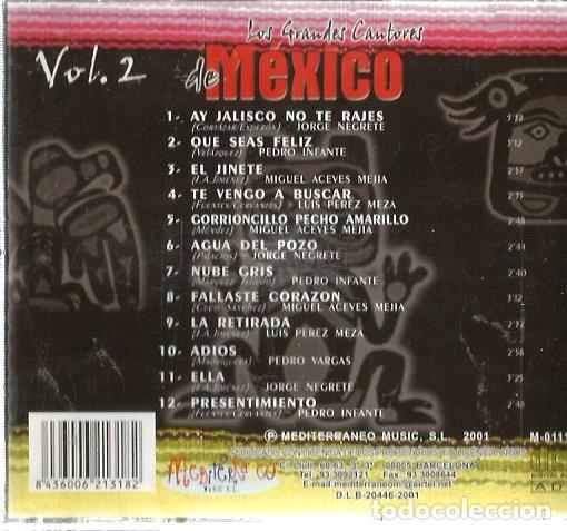 CDs de Música: CD MEXICO VOL. 2 ( JORGE NEGRETE, PEDRO INFANTE, PEDRO VARGAS, MIGUEL ACEVES MEJIA, - Foto 2 - 119955183