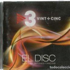 CDs de Música: CD 3 VINT-I-CINC ( POBLE NOU, NISSAGA DE PODER, PLATS BRUTS, VENT DEL PLA, MAJORIA ABS. SPUTNIK, ETC. Lote 119978299