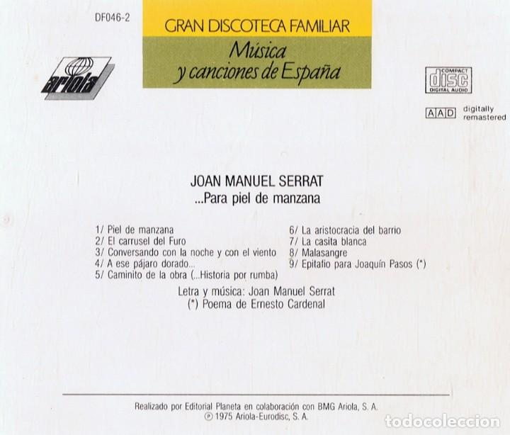 CDs de Música: MÚSICA Y CANCIONES DE ESPAÑA JOAN MANUEL SERRAT (CD) - Foto 2 - 120088939