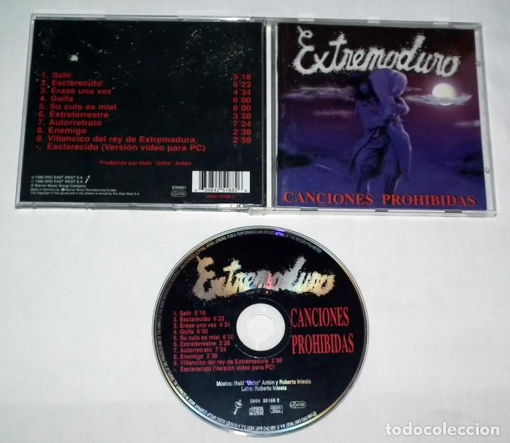 CDs de Música: CD EXTREMODURO - CANCIONES PROHIBIDAS - Foto 2 - 120098087