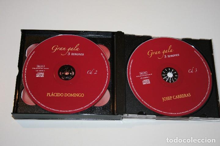 CDs de Música: Gran Gala. Tres Tenores. Luciano Pavarotti. Plácido Domingo. Josep Carreras. 3 CDs. - Foto 5 - 120369415
