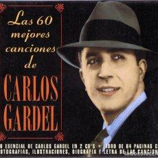CDs de Música: LAS 60 MEJORES CANCIONES DE CARLOS GARDEL ( 2 CD). Lote 120495211