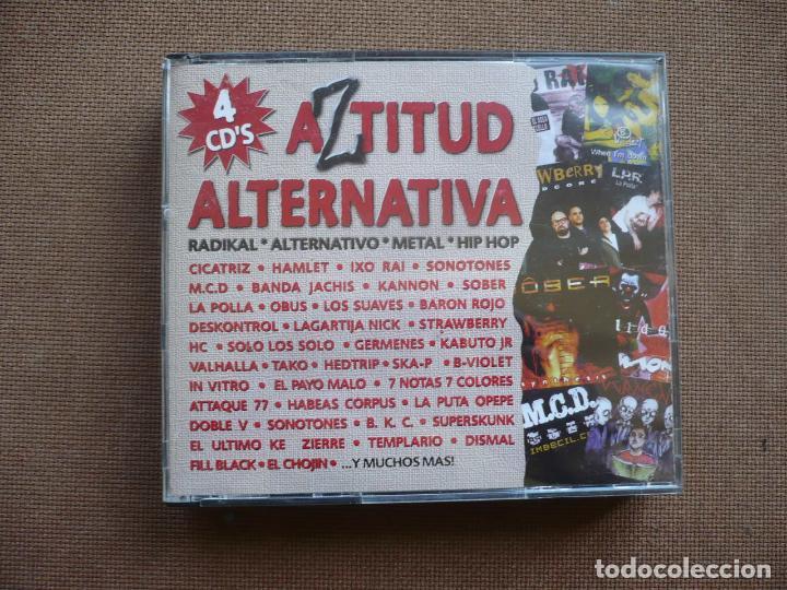 AZTITUD ALTERNATIVA 4 CDS CD RADICAL METAL ROCK HIP HOP (Música - CD's Rock)