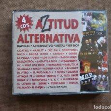 CDs de Música: AZTITUD ALTERNATIVA 4 CDS CD RADICAL METAL ROCK HIP HOP. Lote 120554547