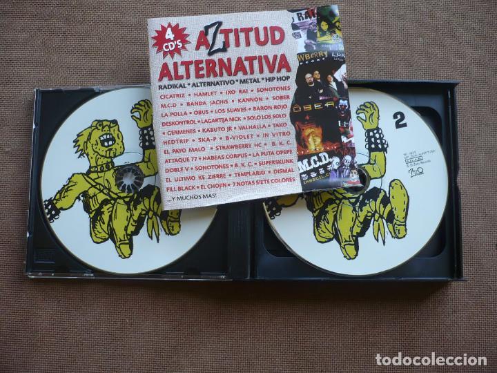 CDs de Música: AZTITUD ALTERNATIVA 4 CDS CD RADICAL METAL ROCK HIP HOP - Foto 2 - 120554547