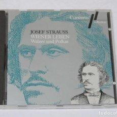 CDs de Música: JOSEF STRAUSS. WIENER LEBEN - WALZER UND POLKAS CD. Lote 187537557