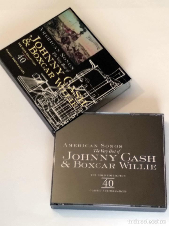 CDs de Música: The Very Best of JOHNNY CASH & BOXCAR WILLIE -American Songs - 2 CDs. The Gold Collection, año 1998 - Foto 6 - 120845335