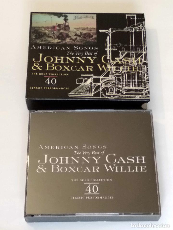 CDs de Música: The Very Best of JOHNNY CASH & BOXCAR WILLIE -American Songs - 2 CDs. The Gold Collection, año 1998 - Foto 7 - 120845335