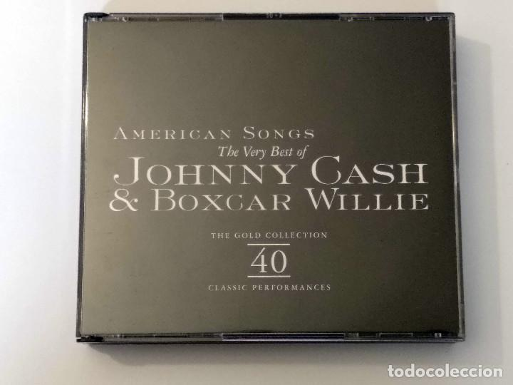 CDs de Música: The Very Best of JOHNNY CASH & BOXCAR WILLIE -American Songs - 2 CDs. The Gold Collection, año 1998 - Foto 8 - 120845335