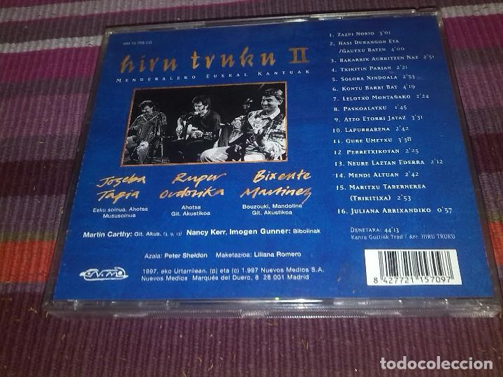 CDs de Música: HIRU TRUKU II JOSEBA TAPIA RUPER ORDORIKA BIXENTE MARTÍNEZ CD 1997 - Foto 3 - 121000375