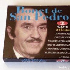 CDs de Música: BONET DE SAN PEDRO. 24 ÉXITOS. ESTUCHE CARTÓN CON 2 CDS. MEDITERRANEO MUSIC LATINO. AÑO 2003.. Lote 121019567