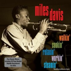 CDs de Música: MILES DAVIS - WALKIN', COOKIN', RELAXIN', WORKIN', STEAMIN' - 5 CDS BOX SET - PRECINTADO. Lote 121127783
