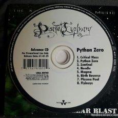 CDs de Música: DISMAL EUPHONY - PYTHON ZERO PROMO CD FUNDA CARTON, CARDBOARD SLEEVE - BLACK METAL 2001. Lote 121268291