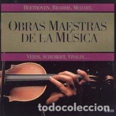 CDs de Música: COLECCIÓN OBRAS MAESTRAS DE LA MÚSICA. Lote 121400627