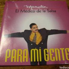 CDs de Música: SALSA MANOLIN EL MÉDICO DE LA SALSA. PARA MI GENTE ARRIBA DE LA BOLA. Lote 197028187