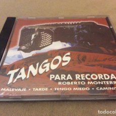 CDs de Música: ROBERTO MONTERREY. TANGOS PARA RECORDAR. 1994.. Lote 121482431