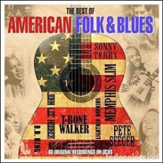 CDs de Música: THE BEST OF AMERICAN FOLK & BLUES * 3CD * DIGIPACK * LTD PRECINTADO!!. Lote 121631291