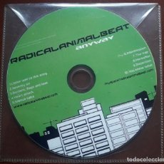 CDs de Música: RADICAL ANIMAL BEAT - ANYWAY PROMO CD RARO!!! FUNK ROCK ELECTRONIC DANCE 2011. Lote 121852443