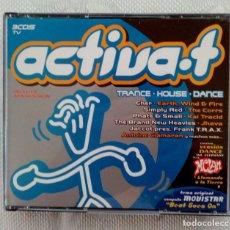 CDs de Música: TRIPLE CD ACTIVA-T - ( TRANCE / HOUSE / DANCE ) - 2000.. Lote 121909119
