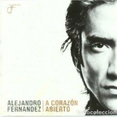 CDs de Música: ALEJANDRO FERNANDEZ - A CORAZÓN ABIERTO - CD. Lote 121973747
