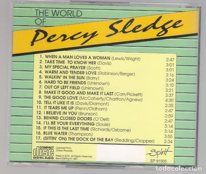 CDs de Música: PERCY SLEDGE - the world of ( CD 1991 ) música soul - Foto 2 - 121990255