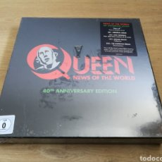 CDs de Música: QUEEN -NEWS OF THE WORLD: 40 ANNIVERSARIO - SÚPER DELUXE-LP+3CDS+DVD NEW SEALED. Lote 122004508