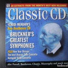 CDs de Música: YEHUDI MENUHIN - BRUCKNER'S GREATEST SYMPHONIES - CD. Lote 122005155