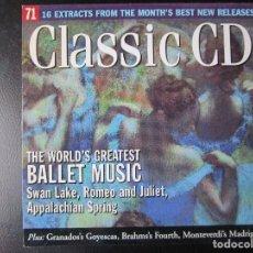 CDs de Música: BALLET MUSIC - EL LAGO DE LOS CISNES, ROMEO Y JULITA, APPALACHIAN SPRING, CD. Lote 122005987