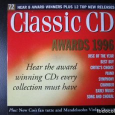 CDs de Música: AWARDS 1996 - SIBELIUS, WALTON, VERDI, ROSSINI, MAHLER, BRITTEN, SCRIABIN, BERWALD, BARTOK, CD. Lote 122006475