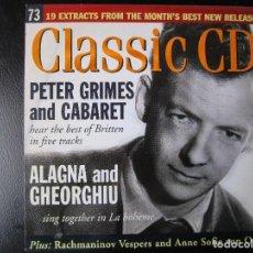 CDs de Música: PETER GRIMES AND CABARET - ALAGNA AND GHEORGHIU - BRITTEN, PUCCINI, MACHAUT, SCHOENBERG,MESSIAEN ,CD. Lote 122007047